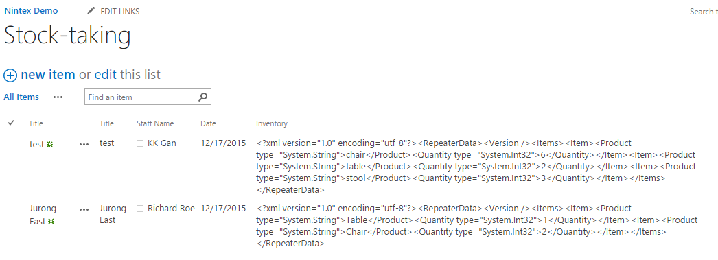 Displaying Repeating Section as table in List View    - Nintex Community