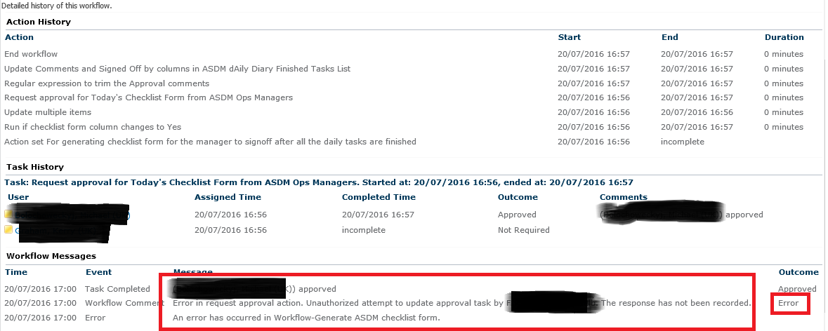 Error in request approval action - Nintex Community