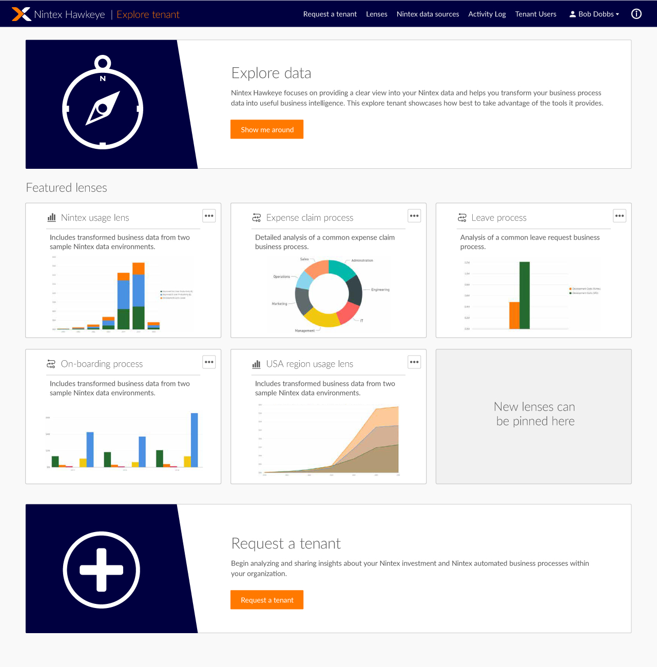 Nintex Hawkeye Explorer Tenant Welcome Dashboard.jpg