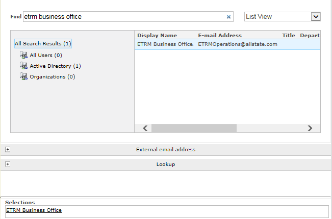 Solved: Display name instead of address - Nintex Community