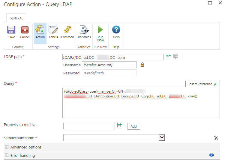 Solved: Query LDAP in a loop or with a collection - Nintex