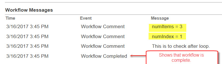 Workflow comments