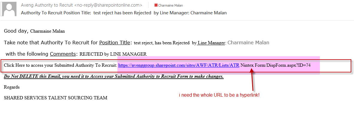 Solved: Assign a Task email with link to Initiator Form