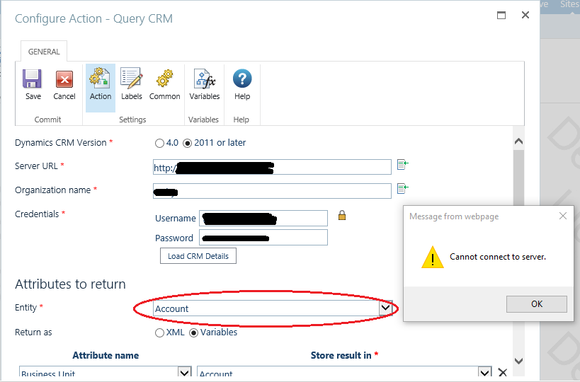 CRM Issue For Account and Case Entities