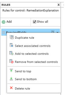 Nintex Forms - Apply Rules to Controls