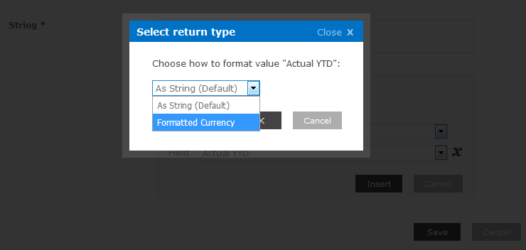 return type, currency