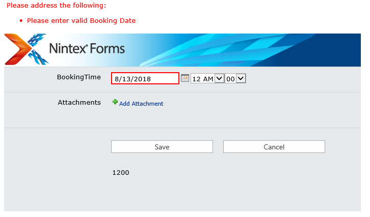 Nintex Forms 2013 - Date Validation 3
