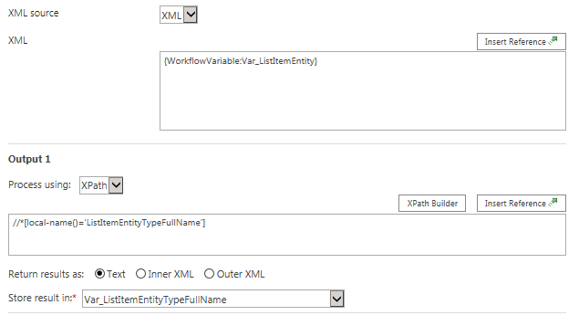 Query XML List Item Entity