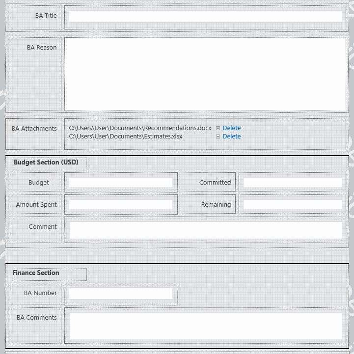 image of form in nintex forms editor