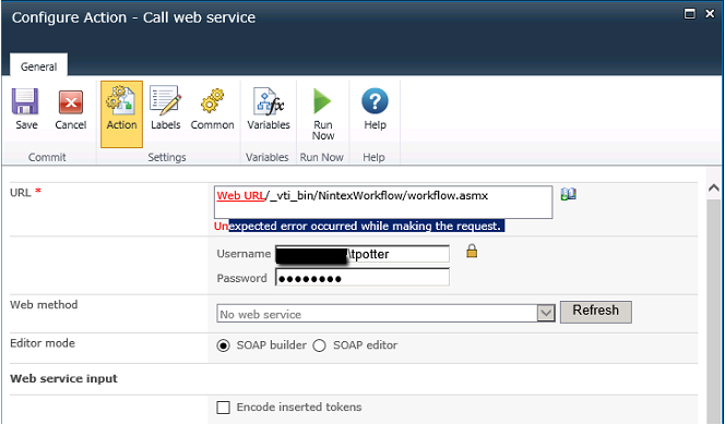 Solved: Call web service - getting