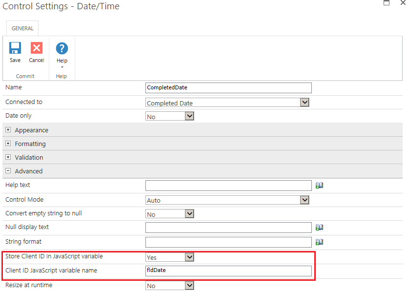 Solved: Setting current date and time on control - Nintex Community
