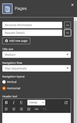 Configure Page Settings