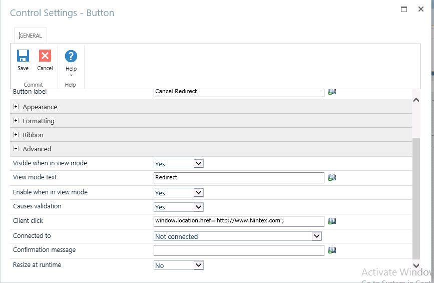 How to redirect specific page by clicking on Cance    - Nintex Community