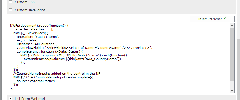 Solved: Auto complete text box in nintex forms sharepoint