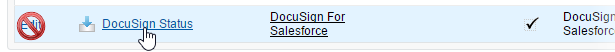 Select DocuSign status object